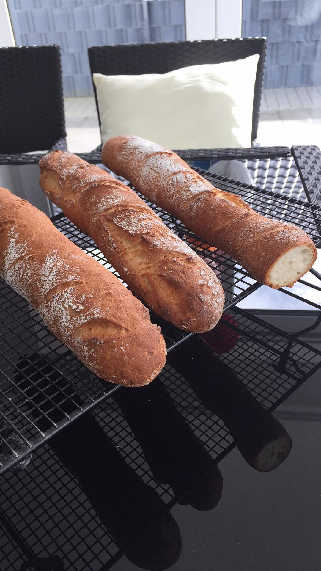 Sonntags Baguette (glutenfrei, maisfrei, schnell)