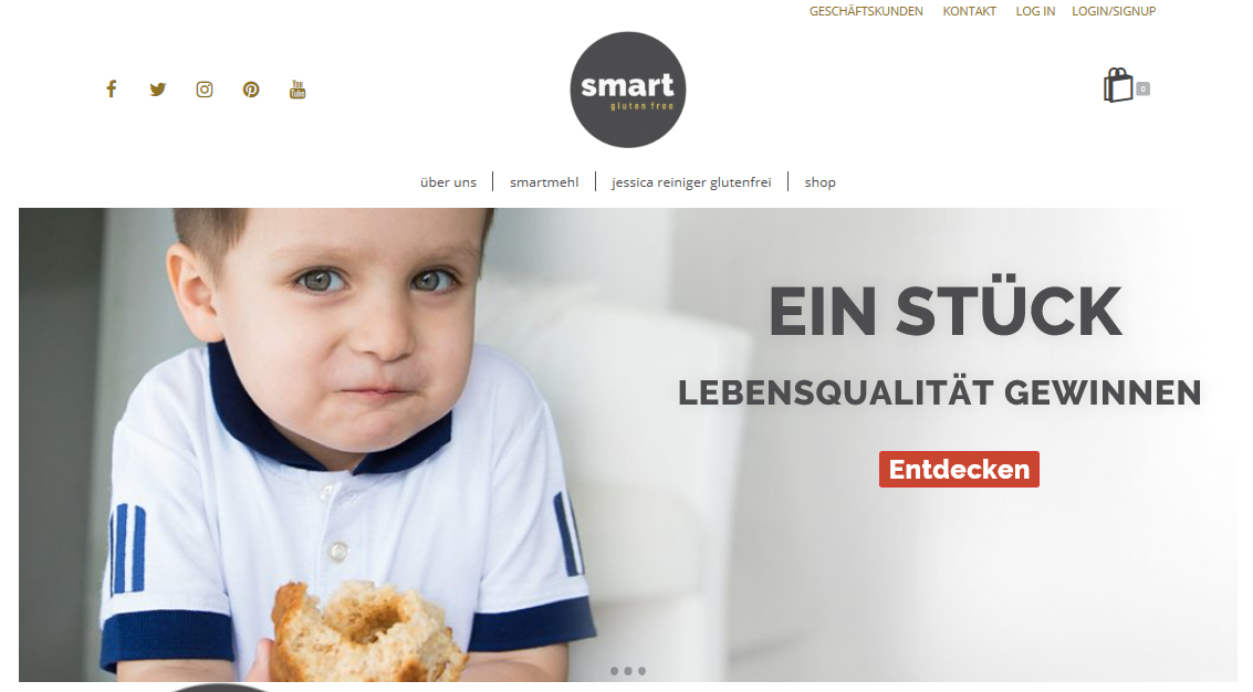 smart-glutenfree.de - Glutenfreies Mehl und mehr