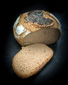 Jessicas Flocken Brot mit Traubensaft